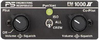 PM1000II 4 PLACE PANEL MOUNT INTERCOM WITH PILOT ISOLATE