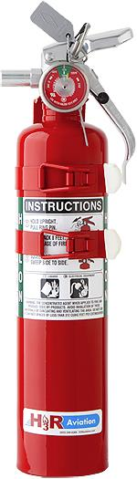 Fire Extinguisher, Halon 1211, 4.9lbs H3R c w/Bracket ***UN1044***