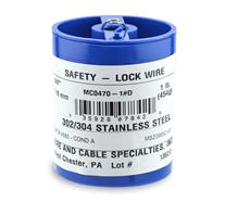 0.47 STAINLESS SAFETY WIRE, 1LB REEL MC0470-1#D  (1.2mm)